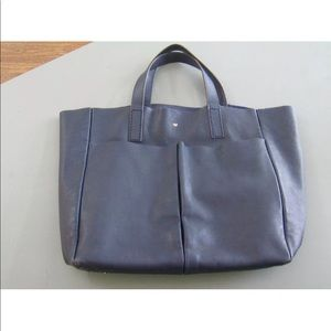 Anya Hindmarch leather tote blue